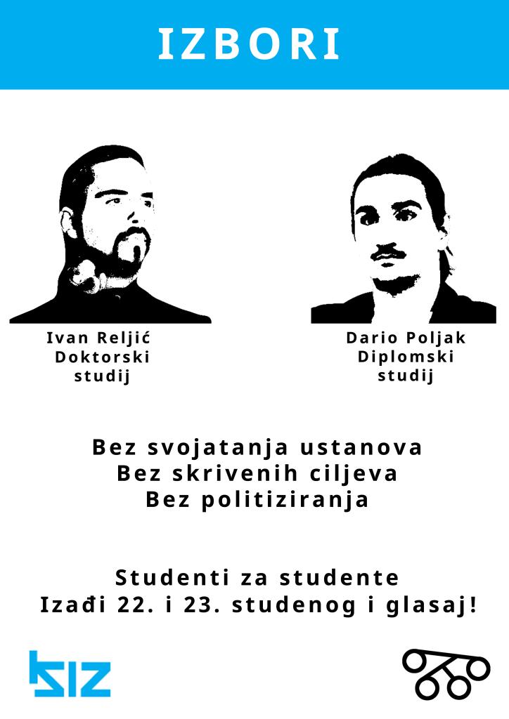 Plakat za izbore za studentski zbor